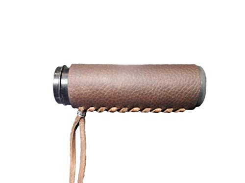 Leather Motorcycle Grips - Heavy Duty Brown Leather Motorcycle Grip Covers for Hd Motorcycles
