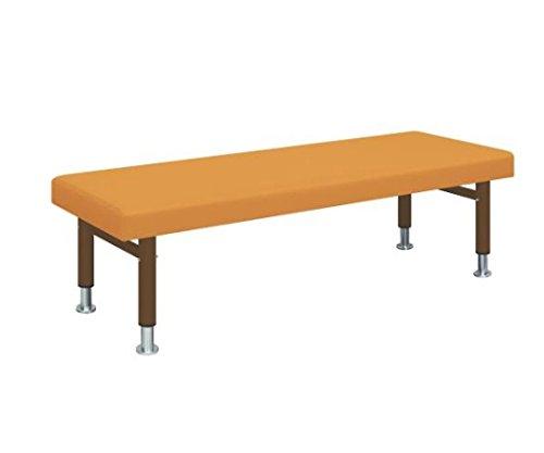 ナビス(アズワン)8-6626-12診察台(五段階調節式)幅60×長さ180×高さ50~60cmマットオレンジ脚ブラウン B07BD314K8