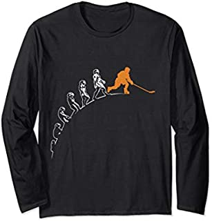Best Gift Evolution of Hockey Funny Hockey Ice Hockey Hockey Player Long Sleeve  Need Funny TShirt