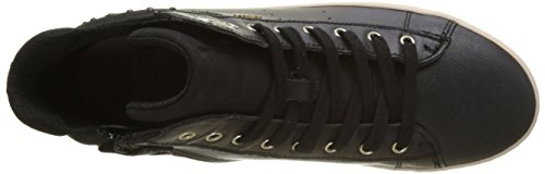 Geox Unisex Adults' J Kalispera E Hi-Top Trainers Black (Black) 14kgP