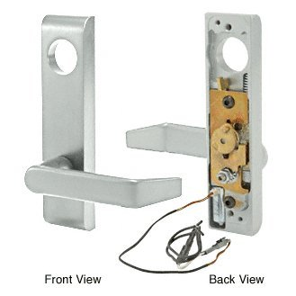 CRL/Jackson Electric Outside Lever Trim with Flat Style Lever Aluminum Finish 24 Volt DC by CR Laurence