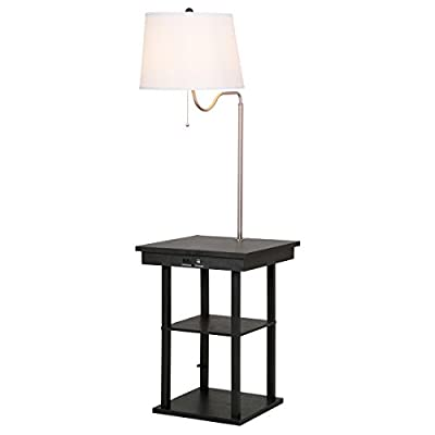 floor lamp swing arm lamp built in end table w shade 2 usb ports living room free e book amazoncom - End Tables With Built In Lamp