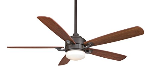Fanimation FP8003OB – 52 inch - Benito Ceiling Fan with Reversible Walnut/Mahogany Blades with Light Kit and Remote, Oil-Rubbed Bronze. (Decor Catalogs Home Upscale)