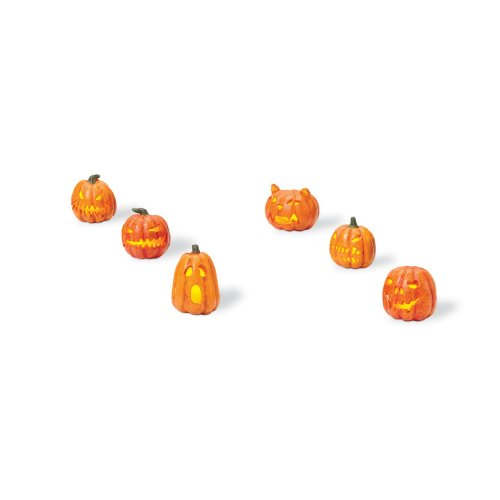Department 56 Lit Jack-O-Lanterns (Set of 6) -