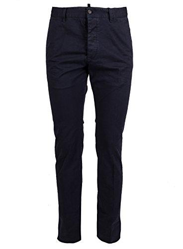 Dsquared2 Men Pants - DSQUARED2 Men's S71kb0076s43575470 Blue Cotton Pants