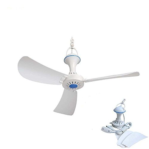 110V AC electric mini ceiling fan Mute energy-saving fan breeze gazebo fan ()