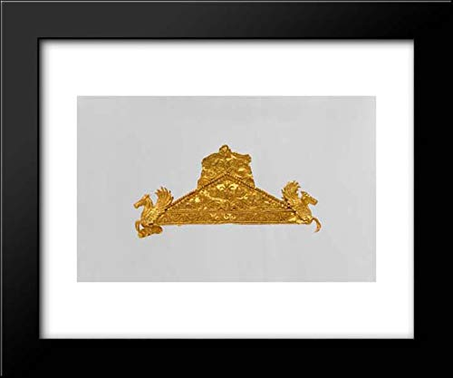 Greek Culture - 18x15 Framed Museum Art Print- Gold Pediment-Shaped Brooch