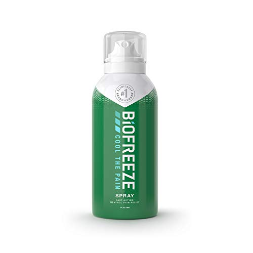 - Biofreeze Pain Relief Spray, 3 oz. Aerosol Spray, Colorless