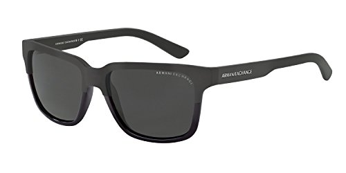 Armani Exchange AX 4026S Unisex Sunglasses Black / Matte Black 56 & Cleaning Kit - Sunglasses Giorgio Armani Exchange