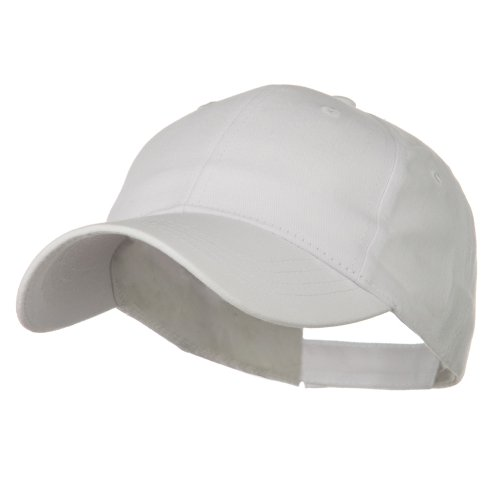 White Cotton Cap (Youth Brushed Cotton Twill Low Profile Cap - White)