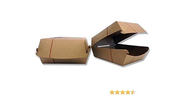 100 unidades, Caja Sándwich Mediano 12 x 12 cm. 100 unidades ...
