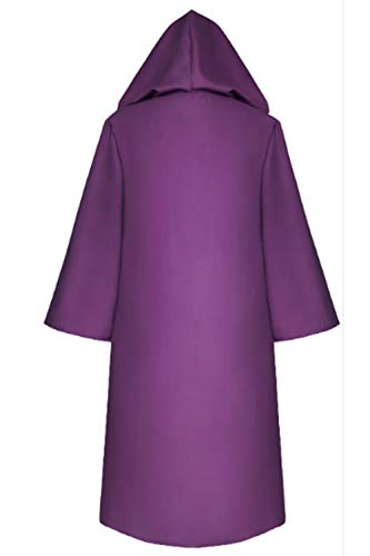 Capa Púrpura Cosplay Capucha Mujer De Zamtapary Para Con Halloween Sólida OdCxzq