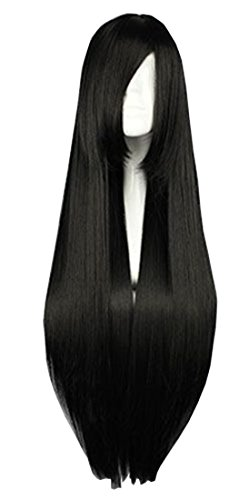 Black Flag Costume For Sale (Women's Long Straight Cosplay Party Hair Wigs)