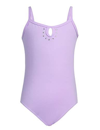 luxilooks Girls' Dance Leotards Camisole Dancewear with Rhinestone 4-9 Years ()