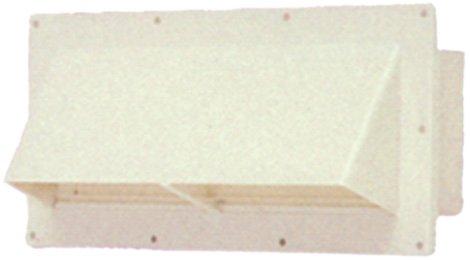 Ventline (V2111-11) Colonial White Horizontal Exterior Wall Vent (Ventline Rv Vents)