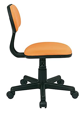 Osp Designs Task Chair In Orange Fabric
