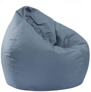 Puf de almacenamiento de juguetes, funda impermeable para interior y exterior, con cremallera, sin relleno, ideal para silla de juego y silla de jardín para niños y adultos