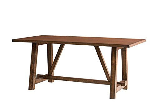 Rectangular Trestle Dining Table (Intercon LN-TA-4072-WAL-C Lindsay 40