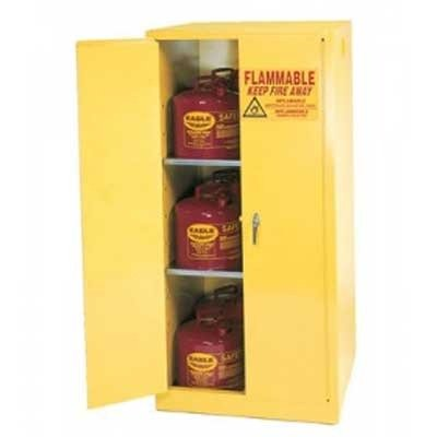 Eagle 1962 Flammable Storage Cabinet, Manual-Latching Door, 60 Gallon