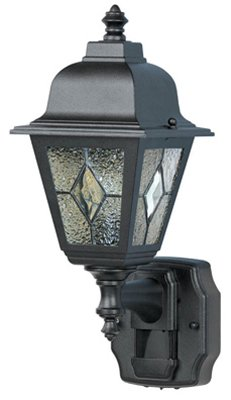 Heath Zenith Motion Activated Wall Lantern Classic Cottage 15.875 In. Blk