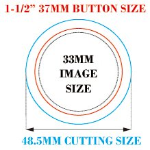 1-1/2'' 37mm 100Sets Pin Badge Button Parts Supplies for Pro Maker Machine by Button Maker (Image #2)