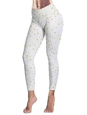 Women's Capris Printed Custom Leggings Cool Star Pattern High Waist Yoga Running Workout Pants