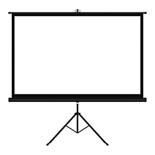 [Cyber Monday Deal]Mileagea ES209 PVC Fabric Matte White 100' 16:9 Tripod Projection Screen Backyard Movie Theater Screen Presentation