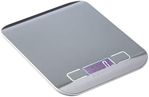 BENGOO Digital Food Scale Kitchen Scale Slim Stainless Multifunction Scale with LCD Display and Tare Function - Silvery