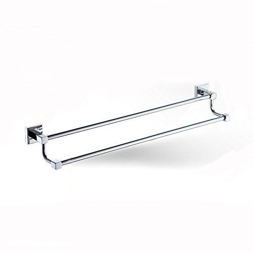 Homey Bathroom Towel Rack Solid Brass Double Racks,Chrome Finish well-wreapped