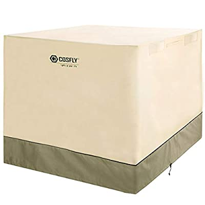 COSFLY Air Conditioner Cover for Outside Units-Durable AC Cover Water Resistant Fabric Windproof Design