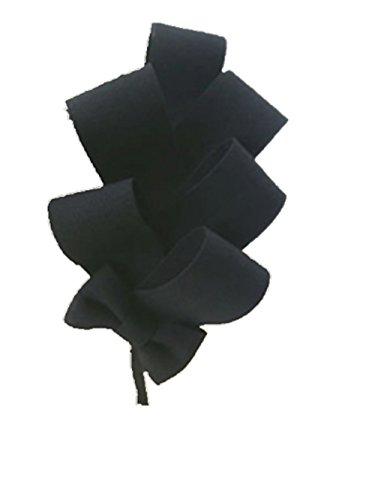 Demarkt Elégante Femmes Accessoires de Coiffure/ Serre Tête Bandeau pour Cheveux avec Tissu Multicouche Couleur Noir