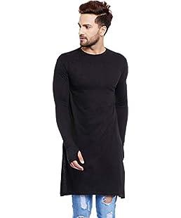 UZEE Men's Cotton T-shirt (Black, Medium)