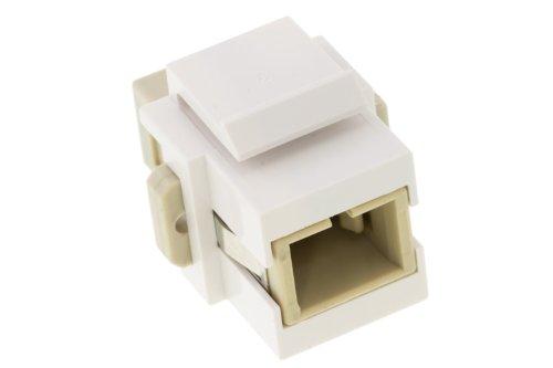 Keystone Snap In SC Fiber Module, White,