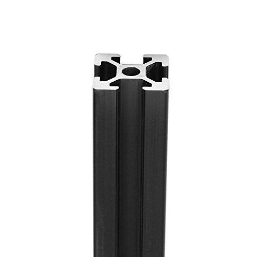 Youttoo 1500/mm Lunghezza nero anodizzato 2020/t-slot estrusione profili in alluminio per CNC Profili in alluminio