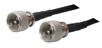 MPD Digital DP-QCPP-71DQ Ham or CB Radio Antenna Cable PL-259 Connectors on LMR-240 Coaxial Cable, 3-Feet