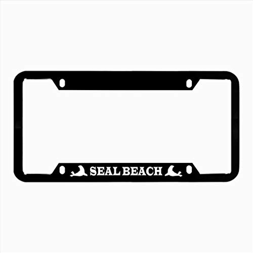(Seal Beach License Plate Frame, Car Tag Frame, License Plate Holder, Novelty Auto Car Tag Vanity Gift)
