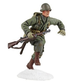 W. Britain 25045 U.S. 101st Airborne Running with M-1 Garand No.1, Winter 1944-45