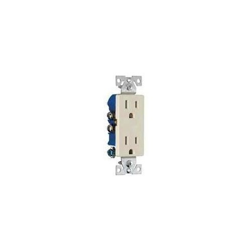 Cooper 1107A Electrical Outlet, Decorator Duplex Receptacle - Almond 10-pack (10) ()