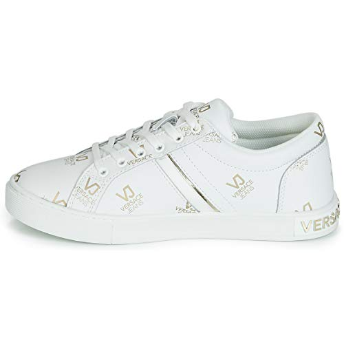 Jeans Couture Ottico Shoes 3 Sneaker Donna bianco Bianco Versace 7fOawd1q7
