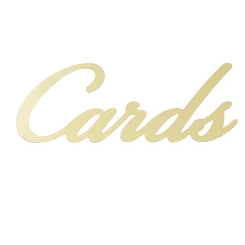 Victoria Lynn DIY Box Accent: Cards in Gold Mirror Script Wedding Décor,