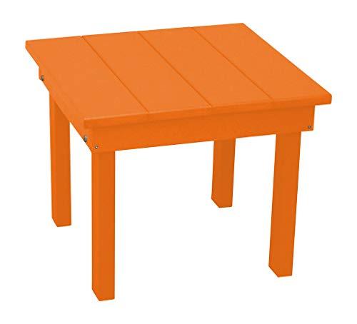 - Furniture Barn USA Outdoor Hampton End Table - Orange Poly Lumber - Recycled Plastic