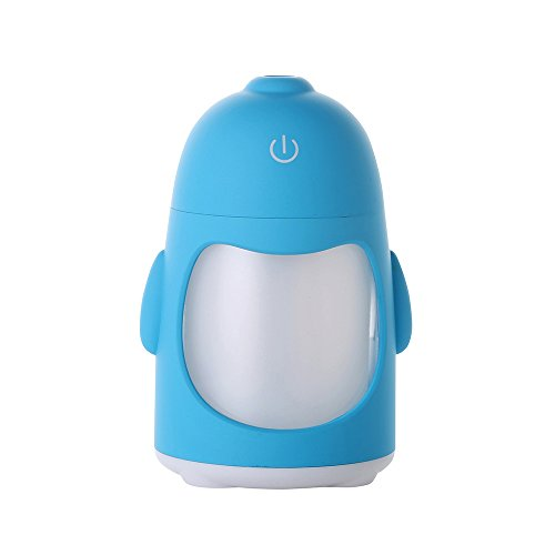 WitMoving Touch Penguin Night Light Humidifier, Tiny Ultrasonic USB Powered Car Cool Mist Air Humidifier Diffuser Battery Operated for Home Office Bedroom Baby Room Tablet Travel by WitMoving