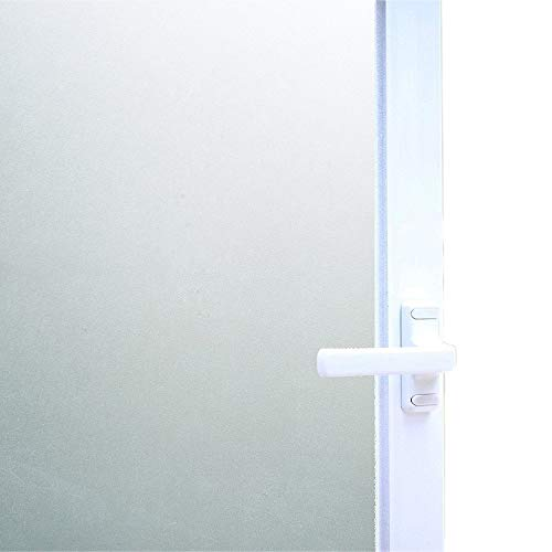 "Bloss Static Cling Privacy Film Frosted Glass Window Film Window Vinyl Window Covering Film (17.7"" By 78.7"",1 Roll)"