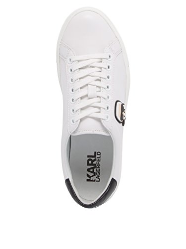 Baskets Blanc Ikonik Bianco Femme Lagerfeld Karl Karl Lace Lo Mode YYA6q