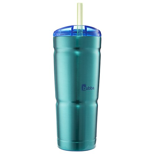 (Bubba Envy S Vacuum-Insulated Stainless Steel Straw Tumbler, 24 oz. Island Teal)