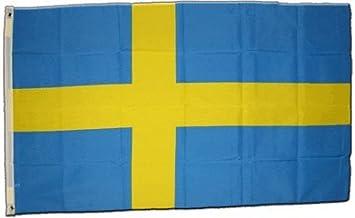 Bandera de Suecia XXL, tamaño 150 x 250 cm: Amazon.es: Deportes y aire libre