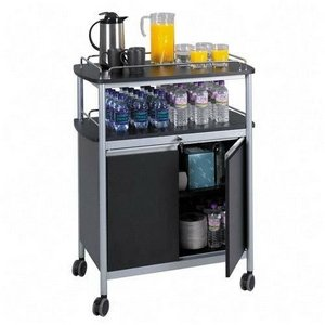 L Mobile Beverage Hospitality Cart, Black (Mobile Beverage Cart)