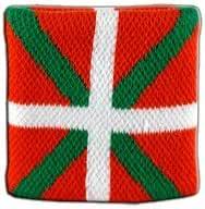 Digni – Muñequera con Bandera de España País Vasco Cinta para el Sudor: Amazon.es: Deportes y aire libre