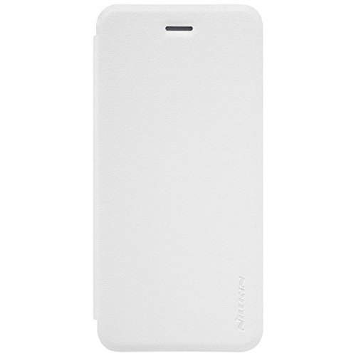 NILLKIN Étui en cuir brillant pour Apple iPhone 7–Blanc