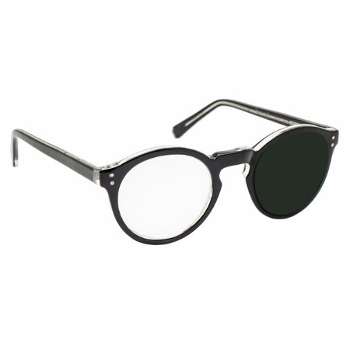 10X / +40 Diopter Magnifying Reading Glasses: Right Eye - Black by MAGNIFYING AIDS